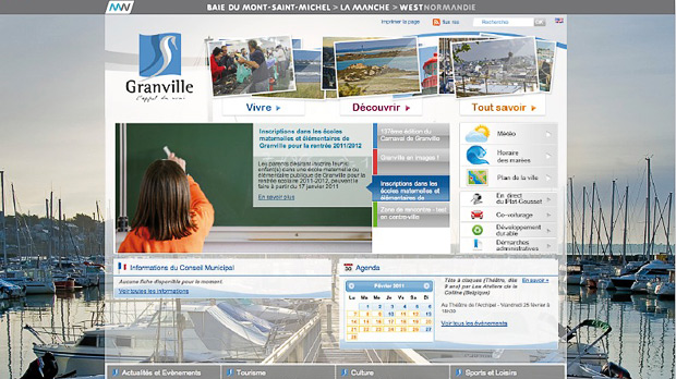 Site internet de Granville (application factice)